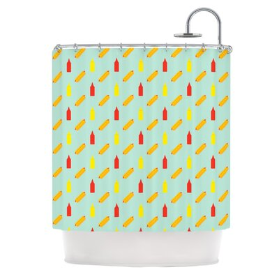 Hot Dog II by Will Wild Food Shower Curtain