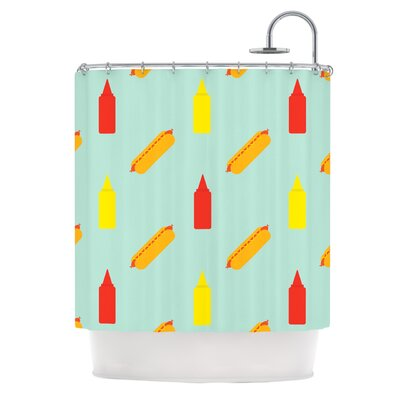 Hot Dog by Will Wild Food Shower Curtain