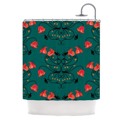 Hummingbird by Yenty Jap Shower Curtain