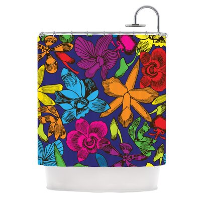 Lovely Orchids by Yenty Jap Floral Shower Curtain