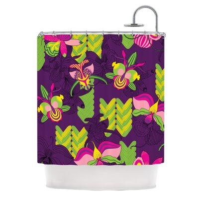 Orchids Festival by Yenty Jap Shower Curtain