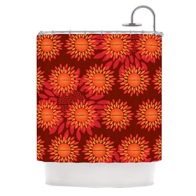 Sunflower Season by Yenty Jap Shower Curtain