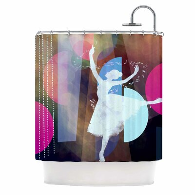 Ballet by AlyZen Moonshadow Geometric Shower Curtain