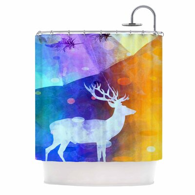 Reindeer by AlyZen Moonshadow Shower Curtain