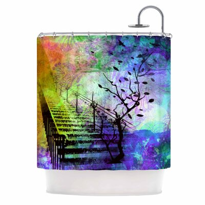 Stairway by AlyZen Moonshadow Tree Shower Curtain