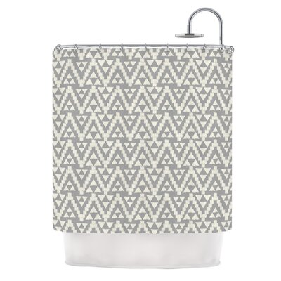 Geo Tribal by Amanda Lane Tribal Shower Curtain Color: Gray