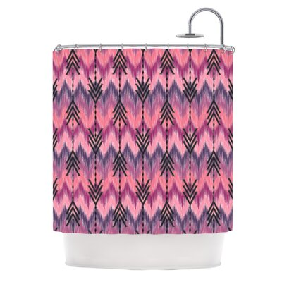 Indigo Orchid Chevron Arrows by Amanda Lane Shower Curtain