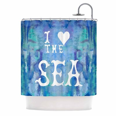 I Love The Sea 2 by Catherine Holcombe Shower Curtain