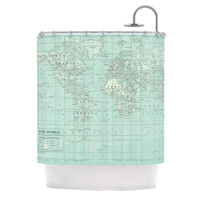 The Old World by Catherine Holcombe Shower Curtain Color: Teal