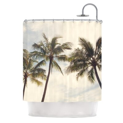 Boho Palms by Catherine McDonald Coastal Trees Shower Curtain