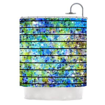 Stripes & Snowflakes by Ebi Emporium Shower Curtain