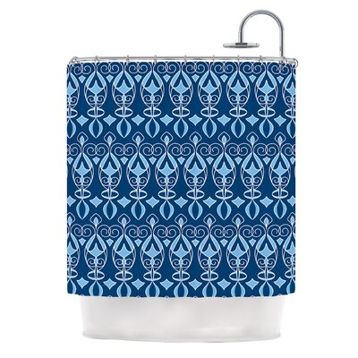 Blue Deco by Julia Grifol Shower Curtain
