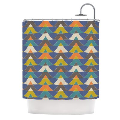 Colorful Triangles by Julia Grifol Shower Curtain