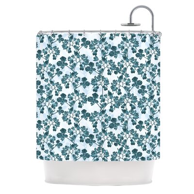 Flowers by Julia Grifol Shower Curtain