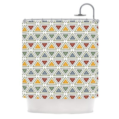 Ikat Triangles by Julia Grifol Shower Curtain