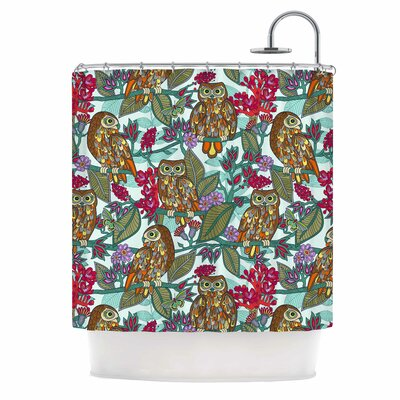 My Bookbooks Owls by Julia Grifol Shower Curtain