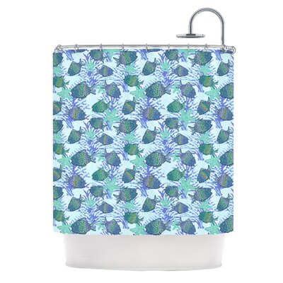 My Colorful Fishes by Julia Grifol Shower Curtain