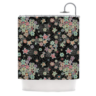 My Small Flowers by Julia Grifol Floral Shower Curtain