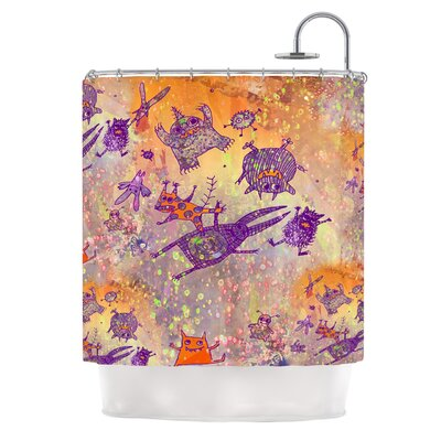 Levitating Monsters by Marianna Tankelevich Shower Curtain