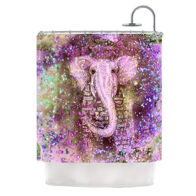 Dust Magic by Marianna Tankelevich Elephant Sparkle Shower Curtain