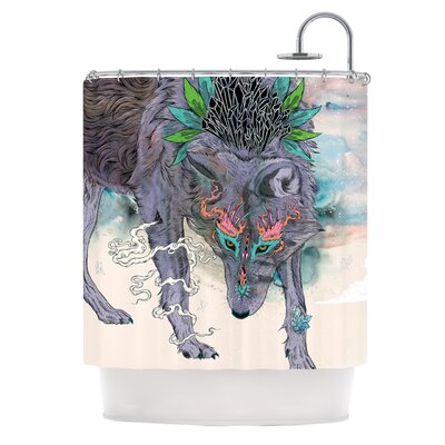 Journeying Spirit by Mat Miller Wolf Shower Curtain