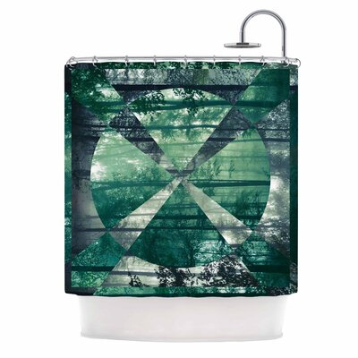 Foliage by Matt Eklund Geometric Shower Curtain