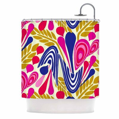 Abstract Bouquet by Amy Reber Shower Curtain