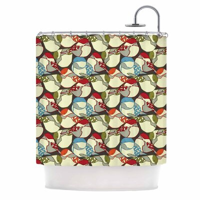 Chickadees by Amy Reber Shower Curtain