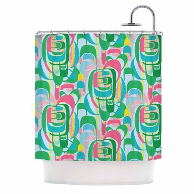 Rainbow Geometric by Amy Reber Shower Curtain