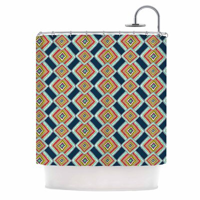 Rainbow Ikat by Amy Reber Abstract Shower Curtain