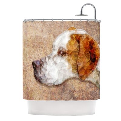 Abstract Beagle by Ancello Geometric Shower Curtain