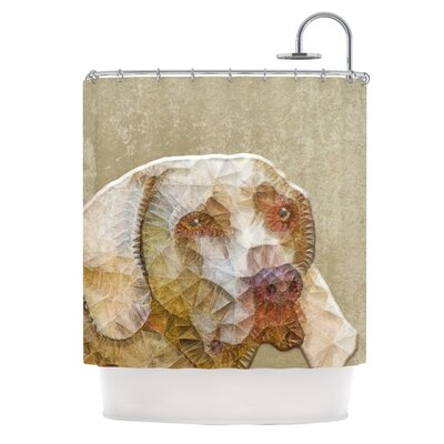 Abstract Dog by Ancello Geometric Shower Curtain