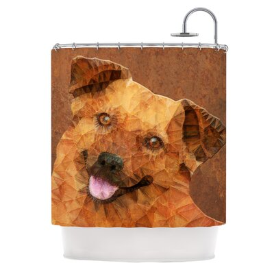 Abstract Puppy by Ancello Geometric Shower Curtain