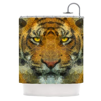 Be Wild by Ancello Geometric Shower Curtain