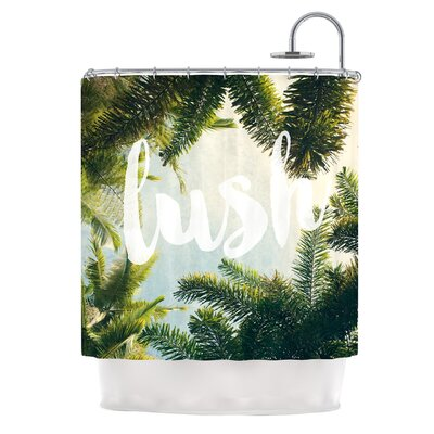 Lush by Catherine McDonald Nature Typography Shower Curtain