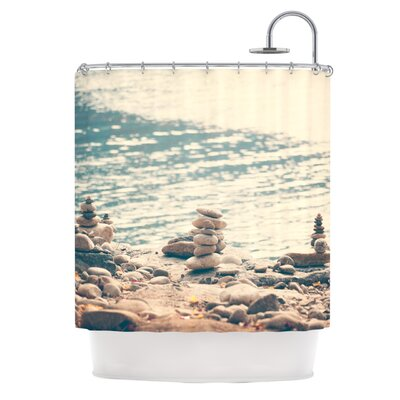 River Cairns by Catherine McDonald Shower Curtain