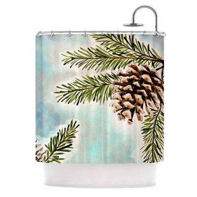 Pinecones and Sky by Christen Treat Shower Curtain