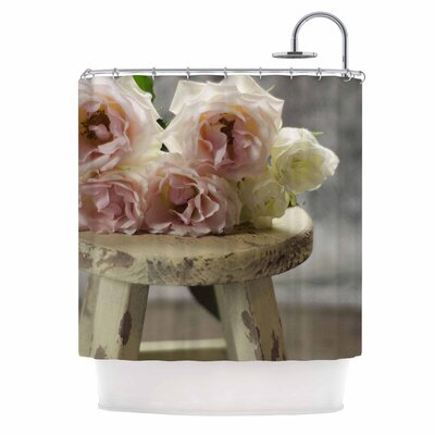 Roses on Stool by Cristina Mitchell Floral Photography Shower Curtain