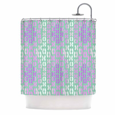 Butterfly Elements II by Dan Sekanwagi Shower Curtain