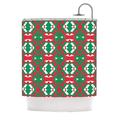 Christmas Geo by Empire Ruhl Shower Curtain