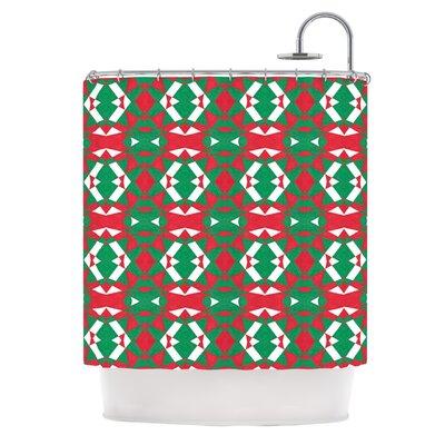 Christmas Geo by Empire Ruhl Shower Curtain
