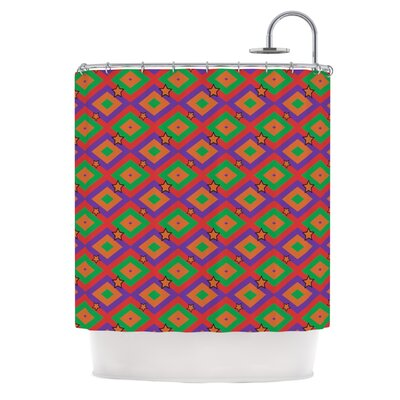 Super Stars by Empire Ruhl Geometric Shower Curtain
