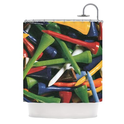 Teed Off by Heidi Jennings Shower Curtain
