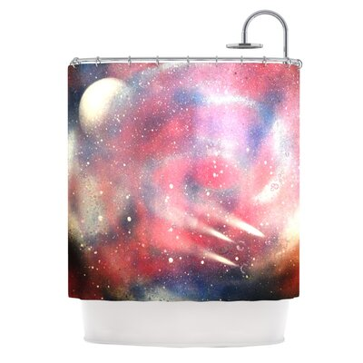Cascade Swirl by Infinite Spray Art Shower Curtain