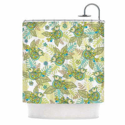 Summer Birds by Julia Grifol Shower Curtain