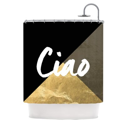 Ciao Metallic Shower Curtain
