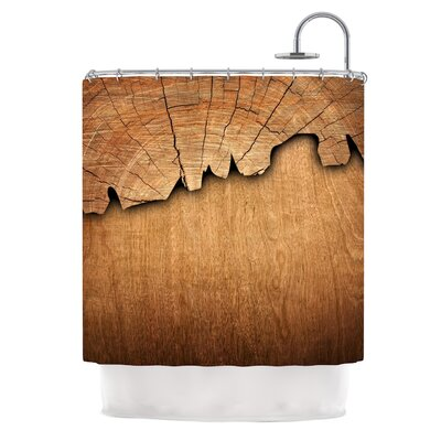 Natural Wood by Susan Sanders Rustic Nature Shower Curtain