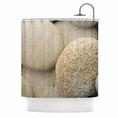 River Stones by Susan Sanders Shower Curtain