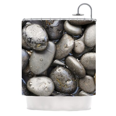 Skipping Stone by Susan Sanders Rocks Shower Curtain