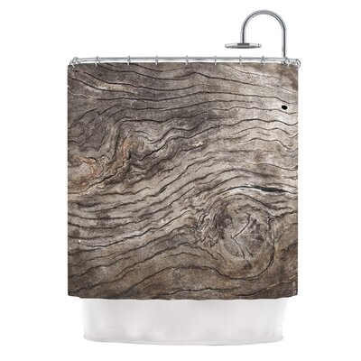 Tree Bark by Susan Sanders Wooden Shower Curtain
